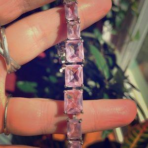Jewelry - Pretty princess pink glass gemstone bracelet
